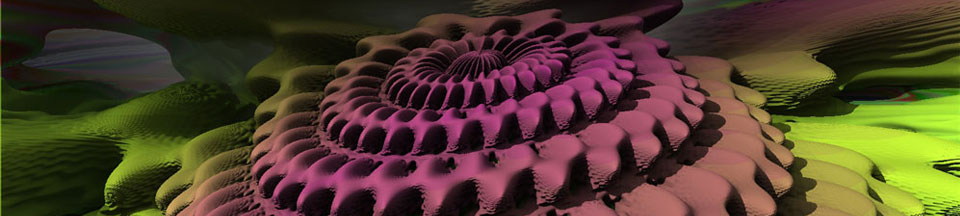 """General Motor: Inside a 23rd power Mandelbulb"" 3D Fractal Art, by Matthew Haggett, 2012"