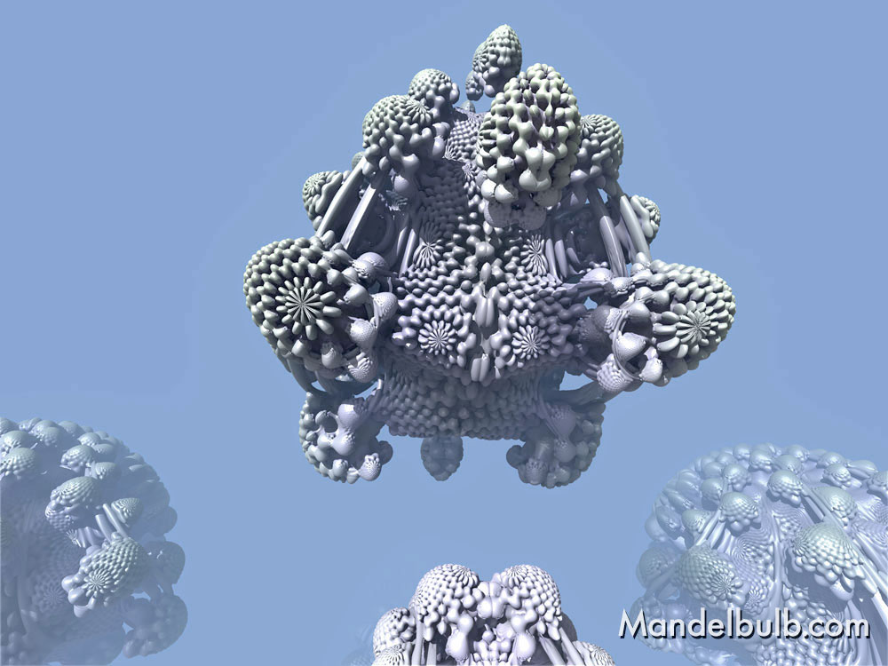 3D Fractal Art, the Mandelbulb, 2012, original image by Matthew Haggett