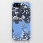 """Stone Frog"" Mandelbulb photograph by Matthew Haggett, 2012. 3D Fractal Art. iPhone case."