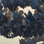 """Black Butterflies"" 3D Fractal Art, by Kurt Dahlke, 2012"