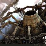 """""""Nanos Building a Volcano"""" by Hal Tenny"""